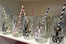 vasos con frascos
