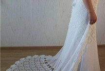 crocheted wedding dresses / by Dee Hasson