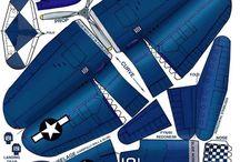 Planes paper cut model