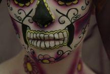 Day of the dead/sugar skulls / by Loulou Flecknoe