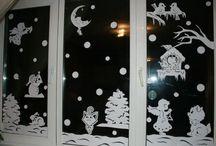 ablakra papírból