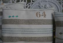 Mes créations coussins / Bord de mer, vintage, noël... A chaque intérieur, à chaque atmosphère un coussin différent.
