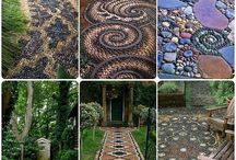 chodníky a mozaiky