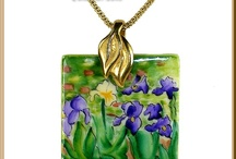 Limoges Jewelry / Hand-Painted Authentic French Porcelain Limoges Jewelry by Beauchamp Limoges ~ www.LimogesBoxCollector.com