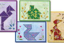 Kaarten met tangram