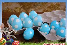 Huevitos de Pascua / Chuck E. te da unas increíbles ideas para decorar los huevitos de Pascua con tus pequeños y divertirse juntos.