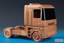 camionnes de madera