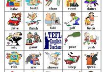 English Verbs Bingo