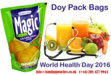 World Health Day / Happy World Health Day !!!  Halt The Rise Beat #Diabetes.  Use our excellent quality and high barrier #DoyPackBags, and preserve the freshness, flavor and aroma of your products for longer time. Keep Your Product Fresh: http://www.standuppouches.co.uk/doy-pack-bags.htm