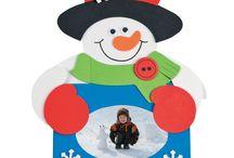 χιονάνθρωπος κορνίζα