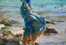 mujeres y mar