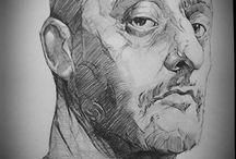 Człowiek rysunki