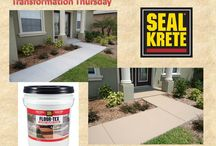 Before and After Photos / Before and after shots using SEAL-KRETE products #transformationthursday