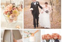 My Peaches & Cream & Gold wedding