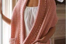 Crochet shawls and scarf