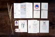 Rustic Country & Western Wedding Motifs / Wedding stationery including wedding programs, menus, that embrace the spirit of the countryside.