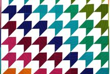 rainbow colored quilts