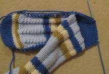 pletené ponožky návod