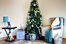 Twinkling Teal / A cool and collected take on Christmas décor, with this teal and white colour palette.