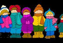 Η Νατα...Λίνα στο Νηπιαγωγείο: Ρούχα του Χειμώνα - Χειμώνας Μέρος 2ο