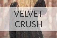 Velvet Crush / Our fav fabric of the season