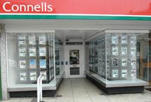 Window Displays For Estate Agents / Different styles of window display that estate agents use to promote their property listings.