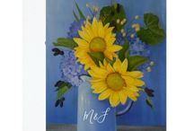 Sunflowers Wedding Suite / Sunflower Wedding package customizable to your event specifics. Oil on canvas by Jan Sinclair.