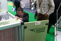 Low Energy Air Filters at the Energy Solutions Expo / A real life demonstration of air filter performance and energy saving benefits is a good way of showcasing Camfil's Low Energy Air Filters. The new Camfil Air Handling Unit was made for this purpose and was recently on display at the Energy Solutions exhibition in London Olympia.