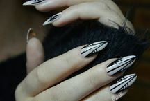 minelliart almond/pointed nail art
