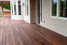 Mahogany Decking / Mahogany decking is robust, straight grained and perfect for high traffic areas.  It is dense and durable, and comes from sustainable forestry practices.