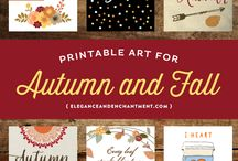 Autumn printables & frames