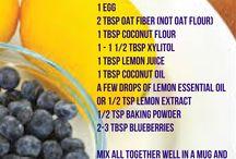 THM snacks & mug recipes / Healthy eating