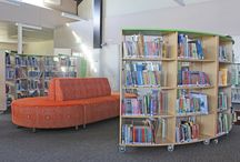 Library Furniture - Swan Anglican College / We had the privilege of fitting out Swan Anglican College's library. We supplied eating, shelving, the circulation desk and other library furniture.