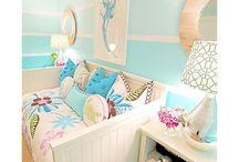 Sea inspired girls bedroom