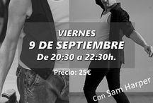 Talleres de Septiembre 2016 / Talleres que se celebrarán en Septiembre de 2016. Claqúe, Pole Dance, aro y telas, bachata, kizomba, lindy hop, danza, salsa, sevillanas, twerk, dancehall...