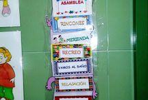 carteles escolares y organización