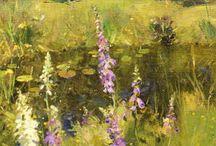 Malerei Blumen und co