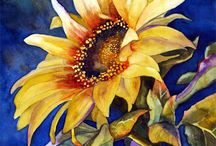 Painting Sunflowers / by Francoise Chauray
