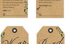 Printable Christmas tags with Bible verses