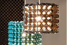 Riciclo cartoni delle uova e rotoli carta igienica