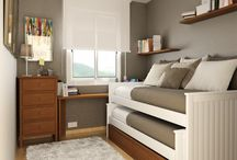 Small bedroom design ideas / Small bedroom double twin bed hideaway slide out idea
