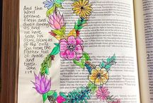 Bible Journaling Inspiration / #biblejournaling #illustratedfaith