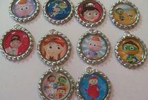 Bottle Cap Necklaces / These are bottle cap necklaces that I make / by Doris Laughlin