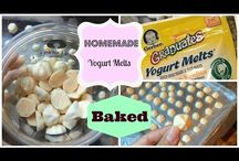 Baby foods / Yogurt melts baked