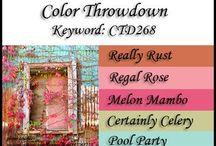 Kleuren moodbords / Mooie kleuren combinaties