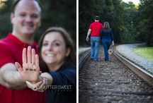 Unique Engagements / Unique engagement pictures taken by Shutter Sweet Photography.