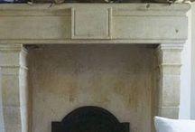 Fireplace / furnace, fire, heater, mantel, logs, screen, wood burning, decorative