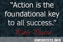 "Best Quotes / ""Action is the foundational key to all success."" -Pablo Picasso : http://iamsuccess.info"