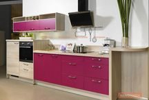 Coloured Kitchen Cabinets / https://renomania.com/blog/?s=dual+tone+kitchen+cabinets+an+added+flavour