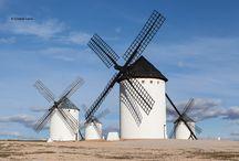Molinos / Fotografías de #molinos de #La Mancha, España #windmills